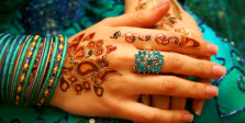 hand with henna tatoos